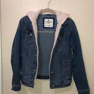 Girls Jean jacket with hood